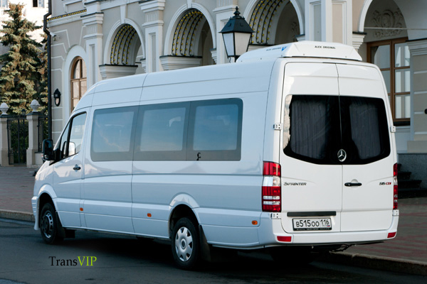 Прокат белого Mercedes-Benz Sprinter 515 Турист с водителем